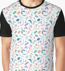 Abstract Cut Out Shapes Graphic T-Shirt