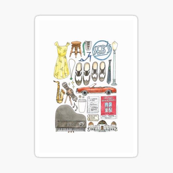 La La Land Illustration Jazz Saxophone Music Musical  Sticker
