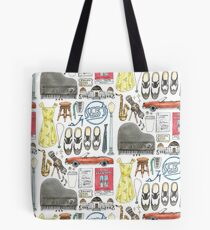 La La Land Illustration Jazz Saxophone Music Musical  Tote Bag