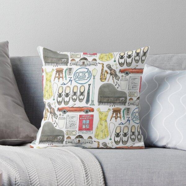 La La Land Illustration Jazz Saxophone Music Musical  Throw Pillow