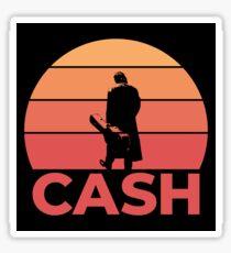 Johnny Cash Sunset Sticker