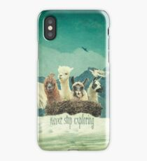 Never Stop Exploring The Snow iPhone Case