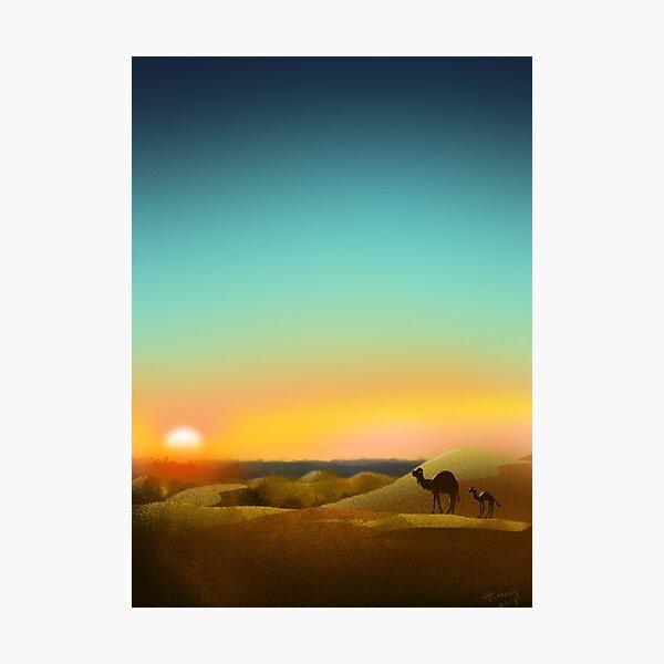 Sahara Sunset Photographic Print