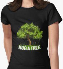 Tree Hugger Hug a Tree Women's Fitted T-Shirt