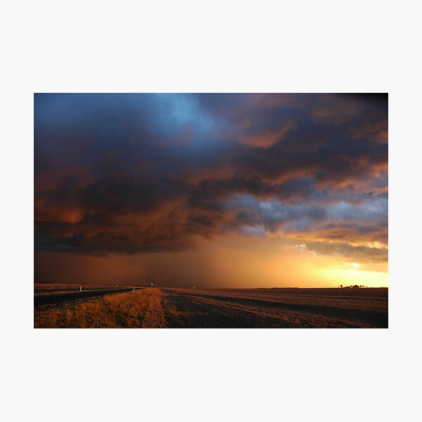 Dalby Sunset Storm Photographic Print
