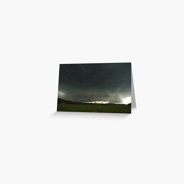 Massive Hailstorm approaches Lismore Greeting Card