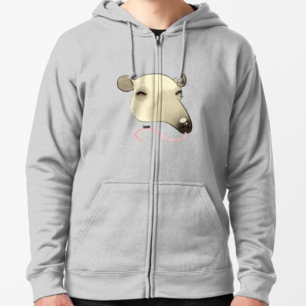 Tamanduas A Solid and Check Out This Anteater! Zipped Hoodie