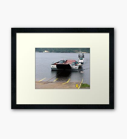 Cable Ferry at Country Harbour Framed Print