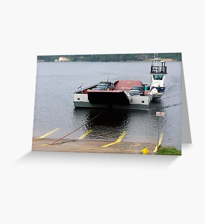 Cable Ferry at Country Harbour Greeting Card