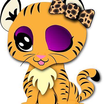 Beauty Tiger by TrotLOeilArt
