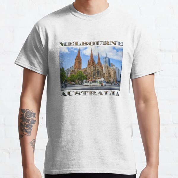 Downtown Melbourne (poster on white) Classic T-Shirt