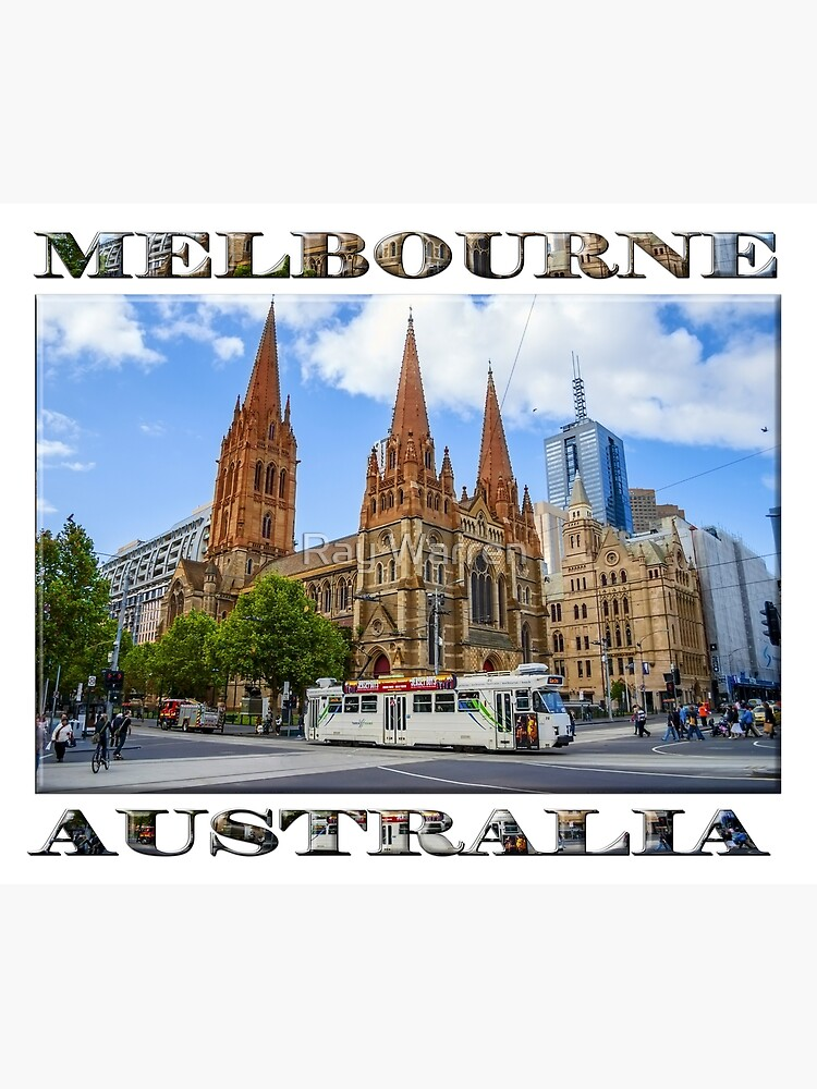 Downtown Melbourne (poster on white) by RayW