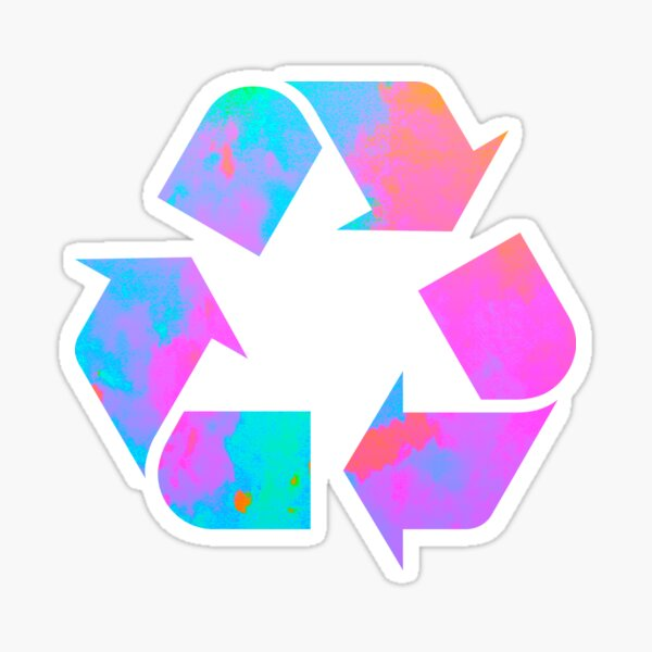 colorful recycle logo Sticker