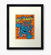 OHHH-YEAH! BLUEBERRY Framed Print
