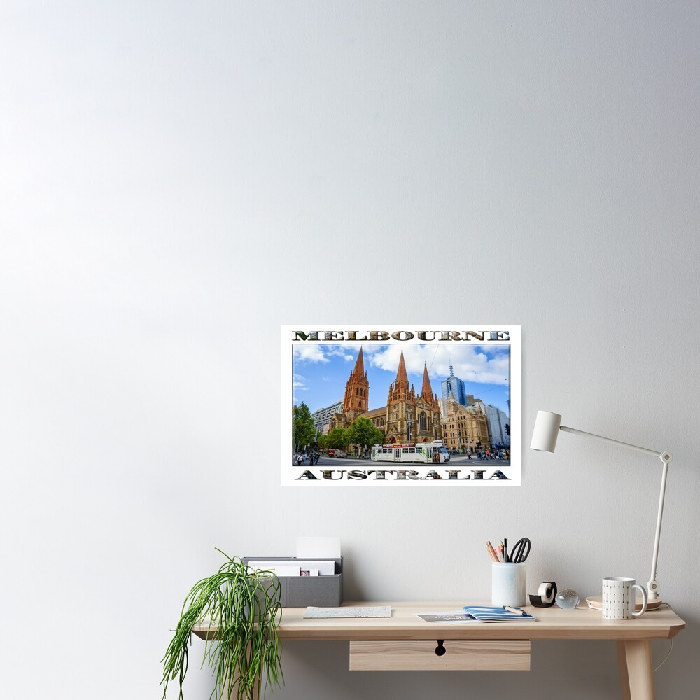 Downtown Melbourne (widescreen poster on white) Poster
