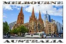 Downtown Melbourne (widescreen poster on white) by Ray Warren