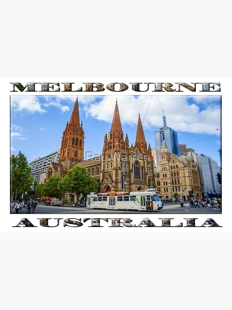Downtown Melbourne (widescreen poster on white) by RayW