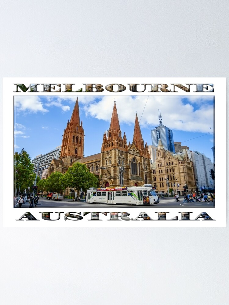 Alternate view of Downtown Melbourne (widescreen poster on white) Poster