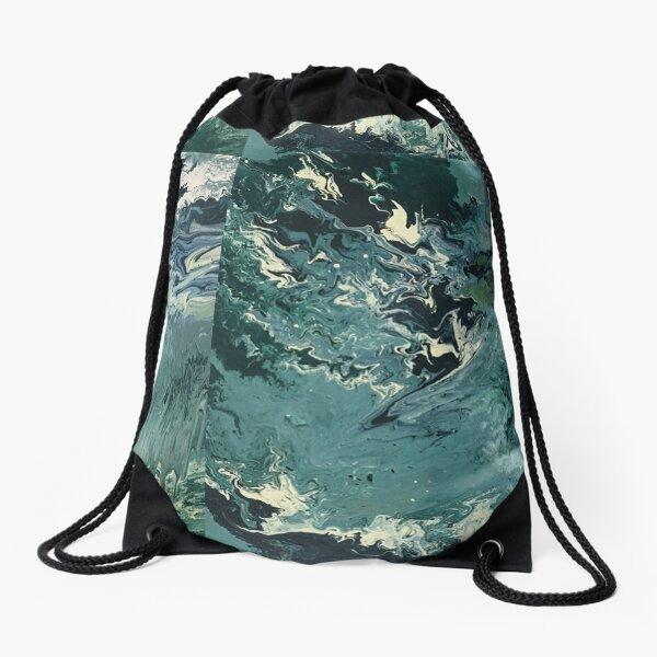 Timeless Ocean Painting Drawstring Bag