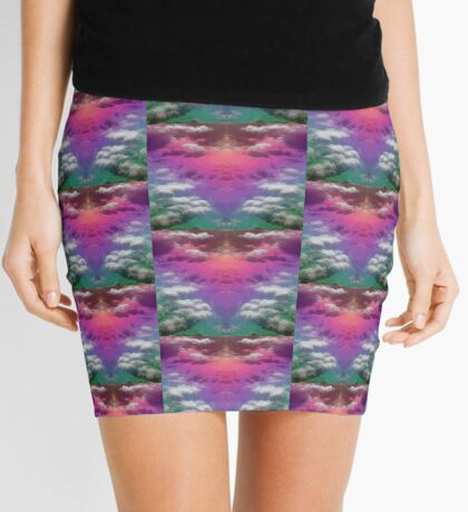 Ocean Rainbow - Diagonals Mini Skirt