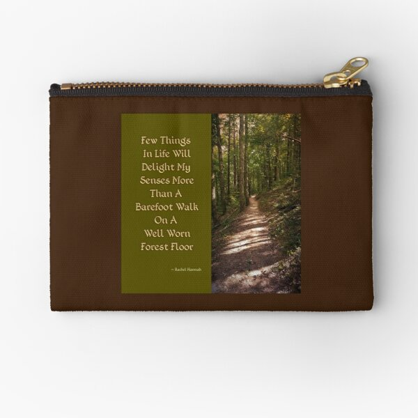 Barefoot Quote Zipper Pouch
