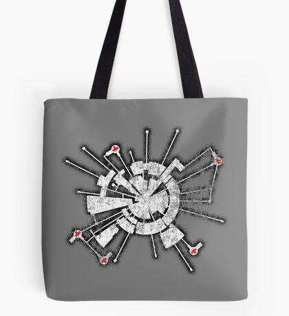Alpha Moon Base Grunge Front Tote Bag