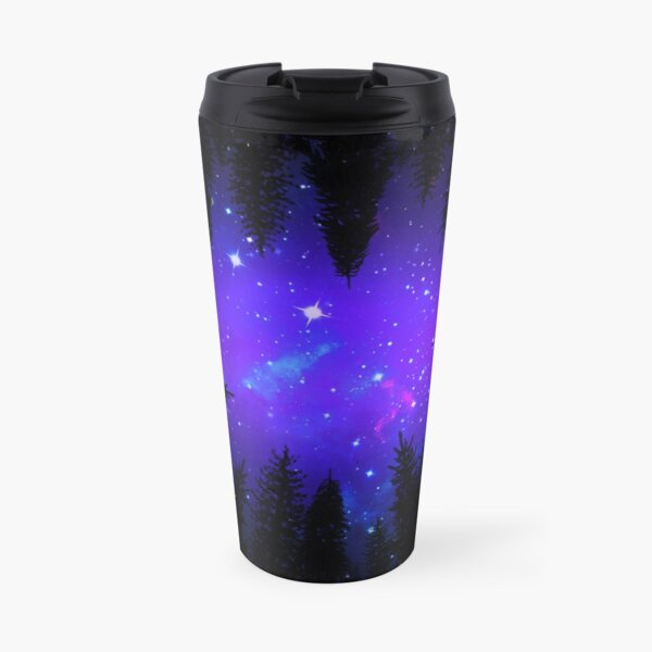 Magical Forest Galaxy Night Sky Travel Mug