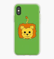 Lion Cartoon Doodle iPhone Case