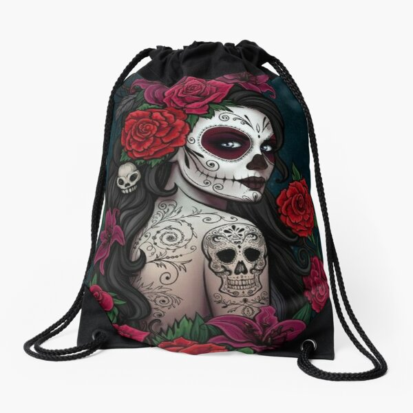 Catrina tatto Drawstring Bag