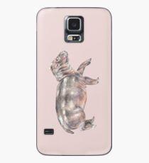 Baby Tiptoeing Nilpferd Safari Tier Aquarell Hülle & Klebefolie für Samsung Galaxy