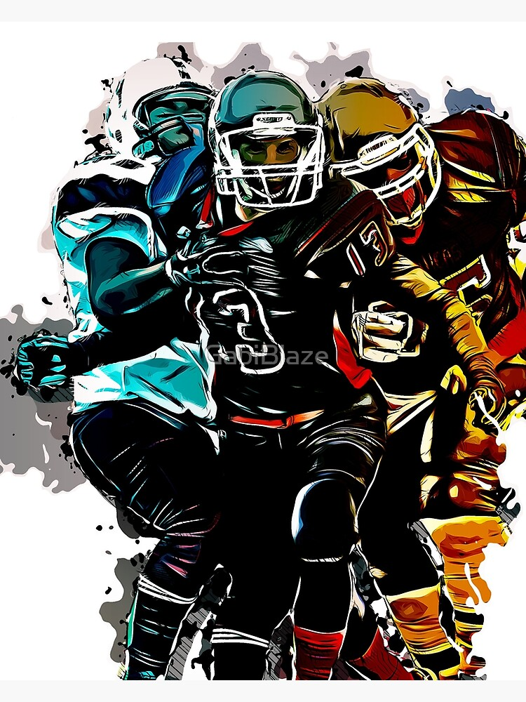 Football Sports For Men Fantasy Game Clipart Graphic Design Greeting Card By Gabiblaze Redbubble