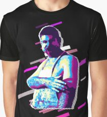 Portrait adult Eighties Retro Violet and Purple Graphic T-Shirt