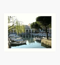 The dock of Desenzano del Garda Art Print