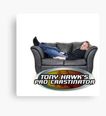 Tony Hawk's Pro Crastinator Canvas Print