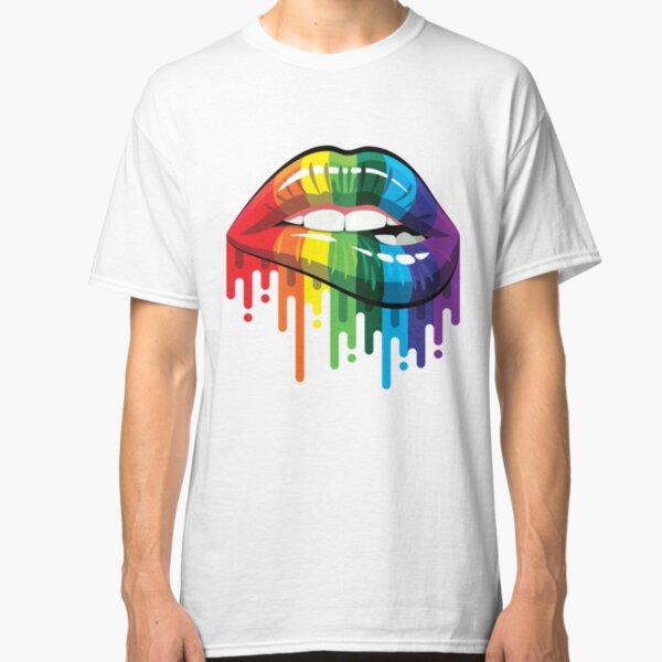 Rainbow Lips Classic T-Shirt