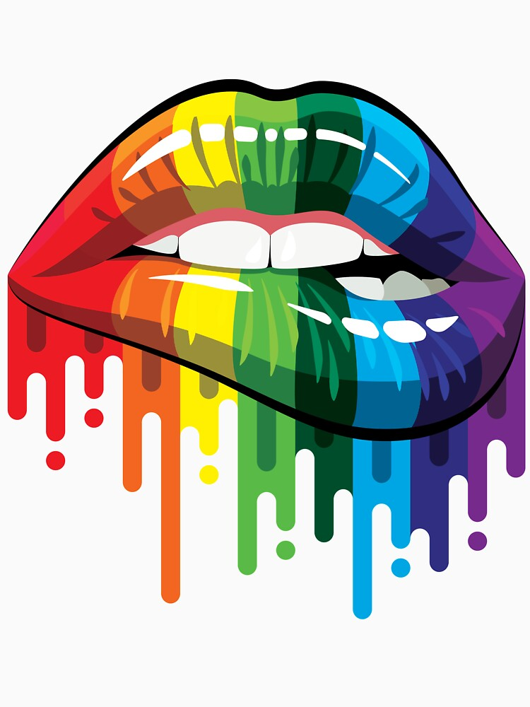 Arco iris de labios de Limbodotlife