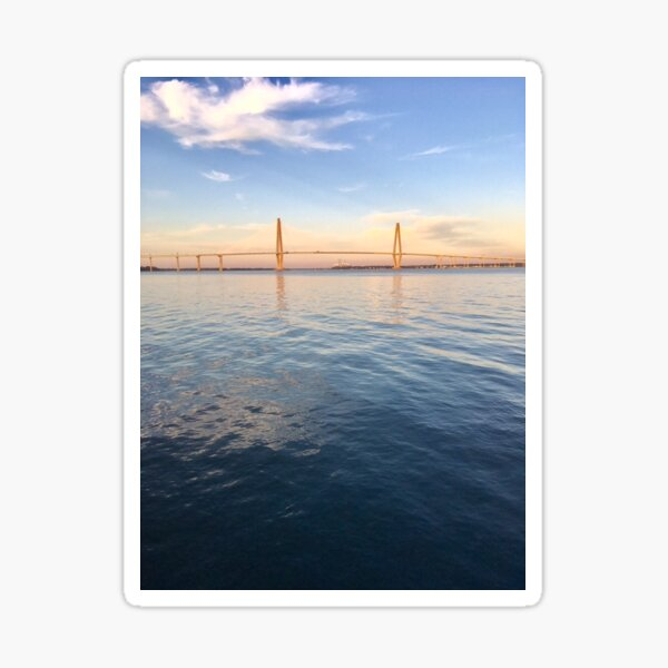 Charleston South Carolina Ravenel Bridge Sticker