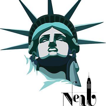 statue of liberty,New York City,United States print t-shirt,Wall Tapestry,Print Clothing,Large Print Clothing,Contrast Tanks,Women's Chiffon Tops,Graphic T-Shirt Dress,Graphic T-Shirts,A-Line Dress by kartickdutta101