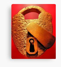 Locking Up The Past Canvas Print