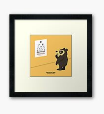 Spectacled Bear Eye Exam Framed Print