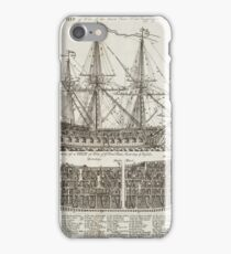Ship of War Naval Print iPhone Case/Skin