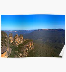 Three Sisters at Echo Point Poster