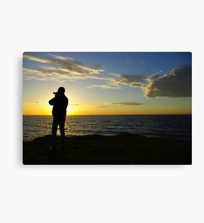 Shootin the sun Canvas Print