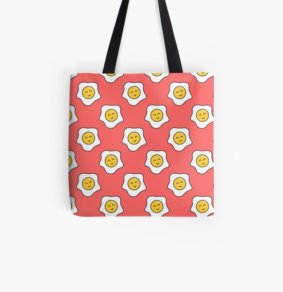 Happy Eggy All Over Print Tote Bag