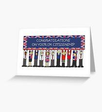 UK Staatsbürgerschaft Herzlichen Glückwunsch Grußkarte