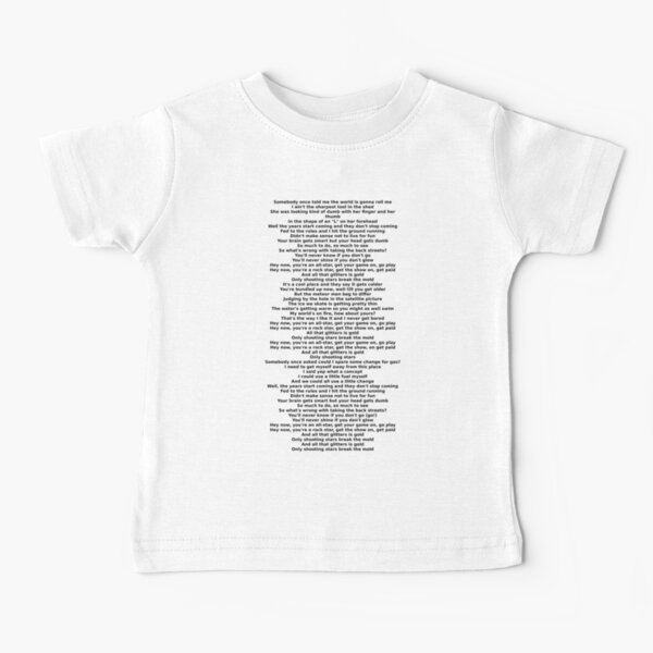 The Lyrics to All Star by Smash Mouth Baby T-Shirt