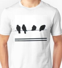 Birds on a Wire  Unisex T-Shirt
