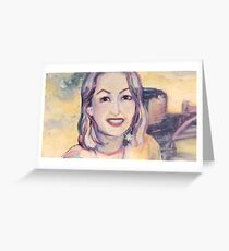 Happy Portrait Greeting Card