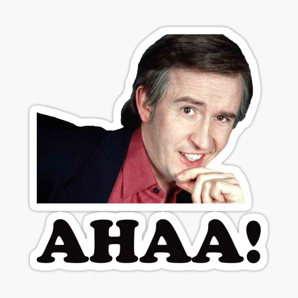 I'm Alan Partridge Aha! Sticker