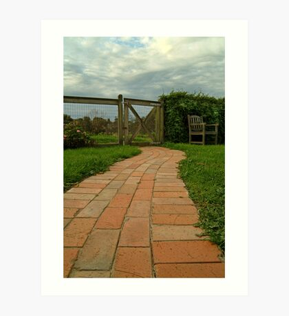 Up The Garden Path Art Print